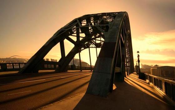Sunrise over Tyne Bridge