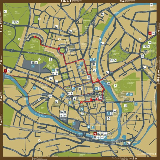 Bath walking tour map